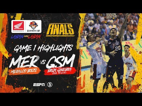 Highlights: G1: Meralco vs Ginebra | PBA Governors' Cup 2019 Finals