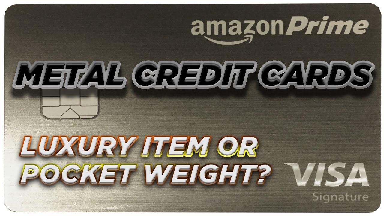 metal credit cards luxury item or pocket weight - Metal Visa Card