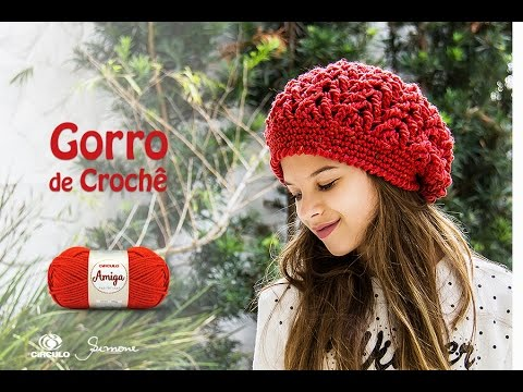 Gorro de Crochê com fio Amiga - Professora Simone Eleotério - YouTube c3077e39a31