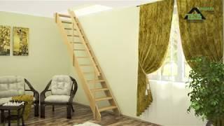 Деревянная лестница Стандарт ЛМ 02  Обзор