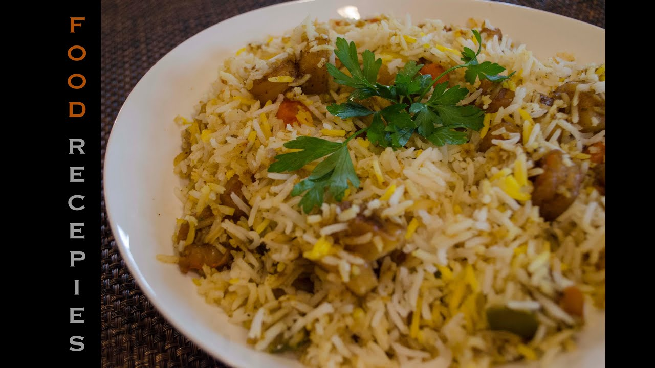 d6be542d9 طريقة عمل برياني الروبيان ... Food Recipes) ... Shrimp Biryani ...