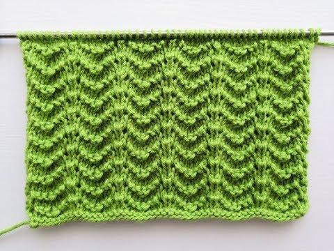 Очень простой ажурный узор спицами для вязания джемпера, кардигана, свитера