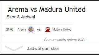 Hasil Akhir Arema Cronus VS Madura United, 2 September 2016, 2: 1