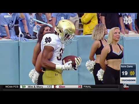 Notre Dame Football vs North Carolina Highlights