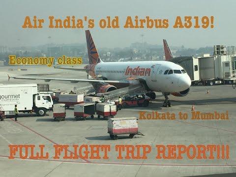 #32: AIR INDIA/INDIAN Airbus A319 | FLIGHT REPORT & REVIEW | AI676 Kolkata to Mumbai