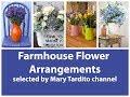 Farmhouse Flower Arrangements Inspo – Flower Decoration Ideas – Rustic Farmhouse Summer Flower Decor
