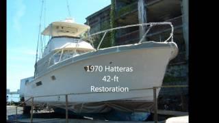 (AQUAHOLIC23 ) 1970 Hatteras Restoration,   by  Flaco aquaholic