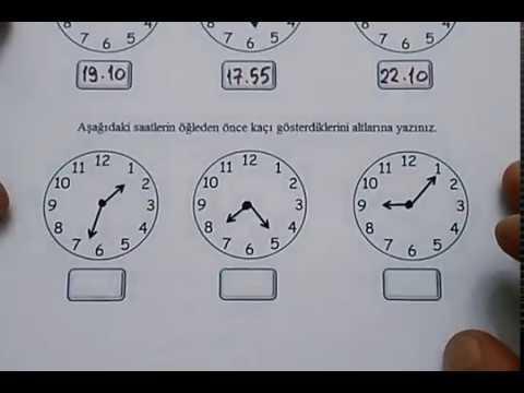 4 Sinif Matematik Zaman Olculeri Saat Dakika Okunusu Ve Yazilisi