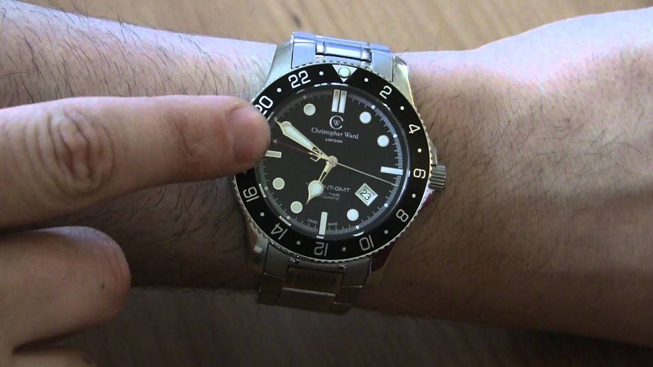 christopher ward c60 trident gmt watch review youtube