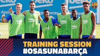 Thursday's training session before the Champions League draw