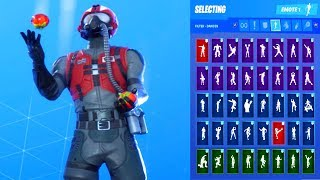 *UPDATE* Fortnite WINGMAN Top Gun Maverick Skin Showcase with All Dances & Emotes *Sub Request*