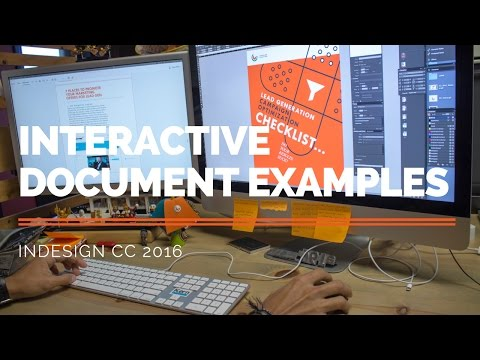 Interactive Document Examples - Indesign CC 2016
