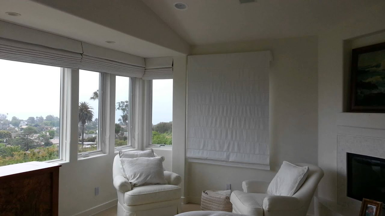 Somfy 24v Motorized Blackout Roman Shades Youtube