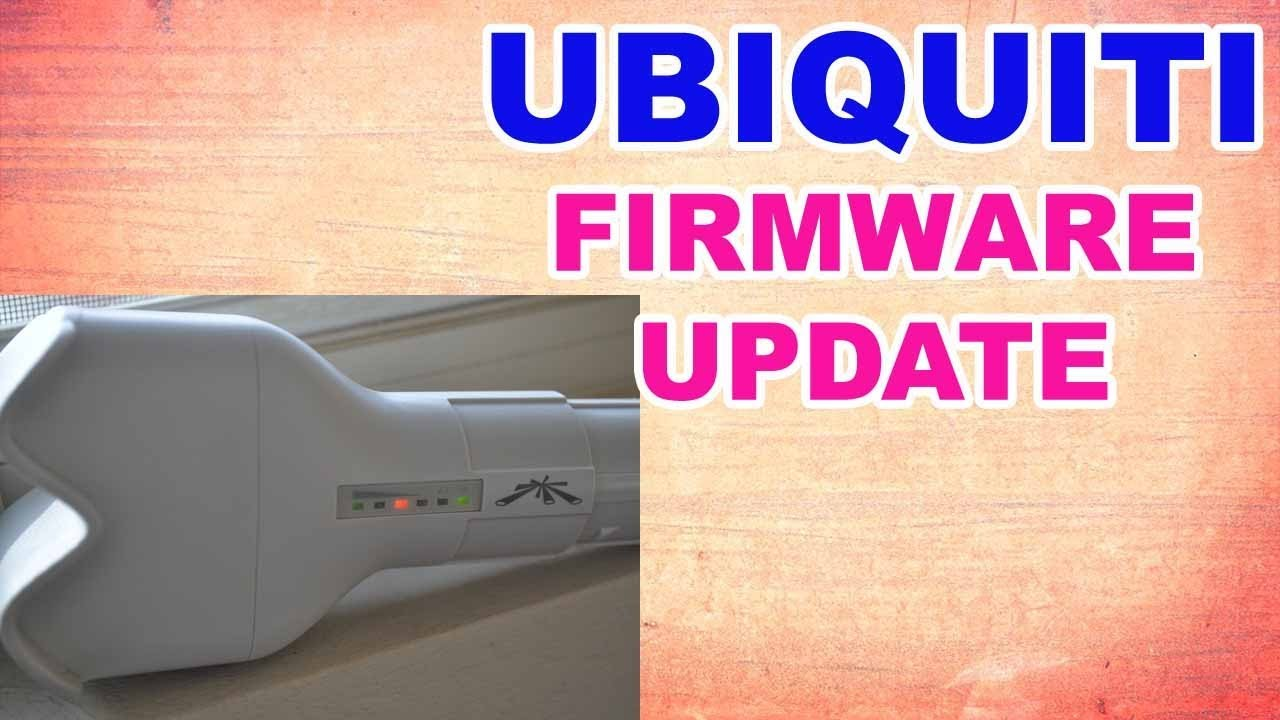 how to update firmware ubnt