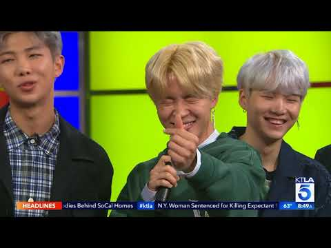 Korean Pop Sensation BTS Appears on the KTLA 5 Morning News