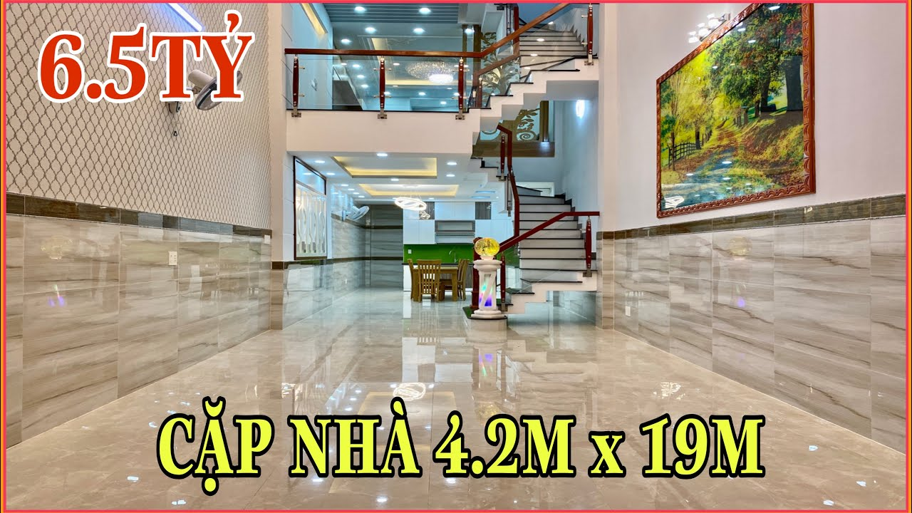 Bán nhà Gò Vấp | 303] Thăm quan cặp nhà 4.2m x 19m tuyệt đẹp ở Gò Vấp giá rất rẻ 6.5 tỷ