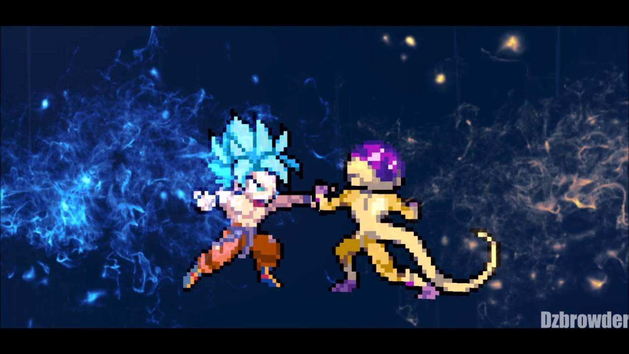 Ssgss Goku Vs Golden Frieza Full Battle Sprite Animation Youtube
