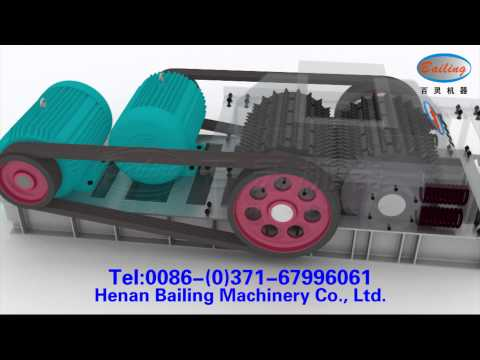 3D Animation Demo of Two-roller Crusher