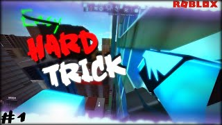 Hard trick#1(with keyboard mashing audio)| Roblox Parkour