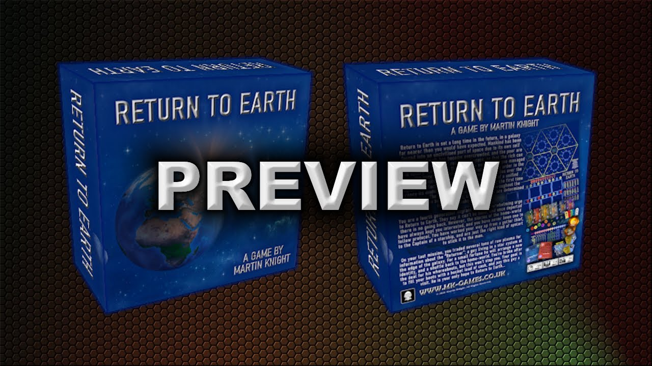RETURN TO EARTH COMPONENTS PREVIEW