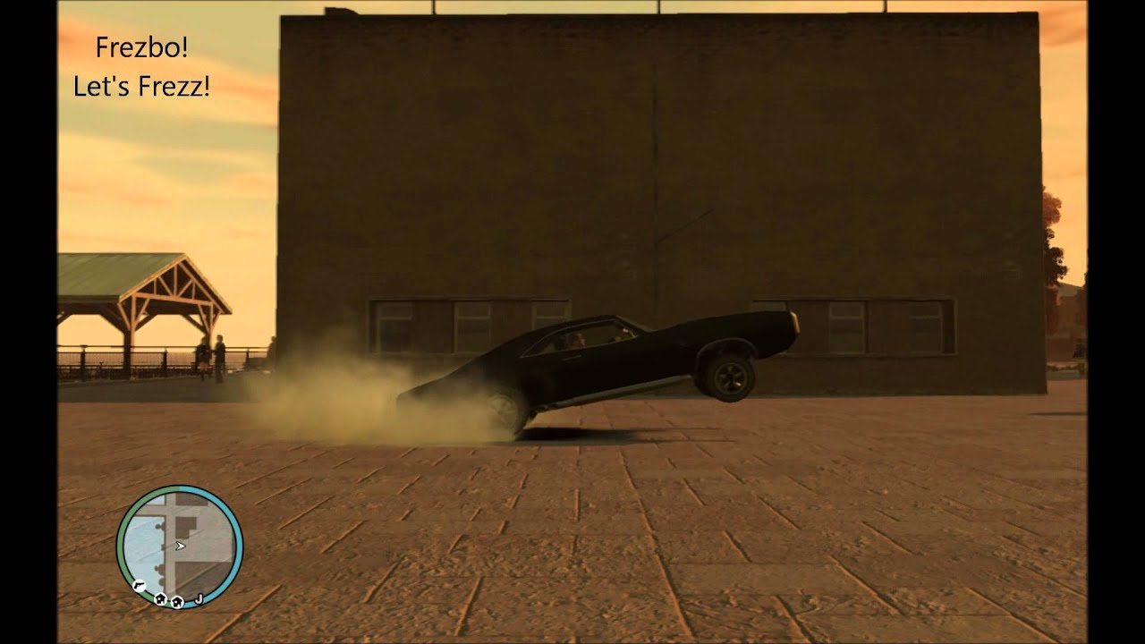 Gta Iv Car Wheelie After A Burnout With A Muscle Car Youtube