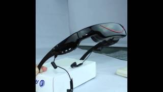 72inch virtual screen video glasses with AV IN function for iphone, ps, dvd, tv & FPV transmitter