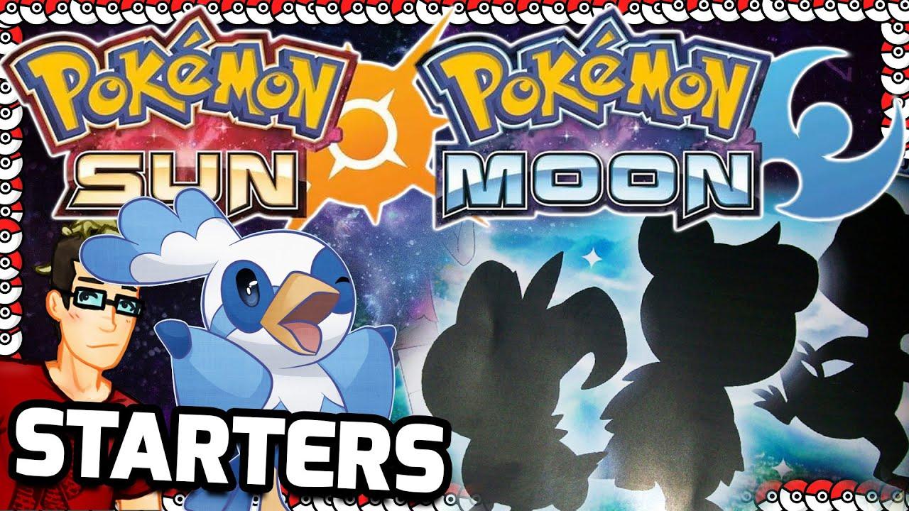pokemon sun and moon starters predicted youtube