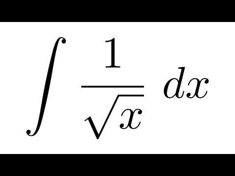 (Method 1) Integral of 1/sqrt(x)