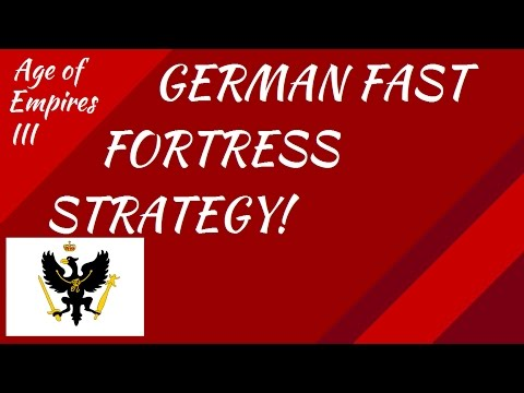 German Fast Fortress Strategy! AoE III