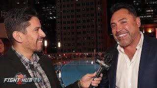 "OSCAR DE LA HOYA ON CANELO VS GGG 3 ""IF GGG WANTS THE FIGHT, WE HAVE A SET PRICE OF WHAT HES WORTH"""