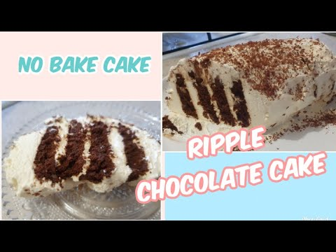 Simple No Bake Cake | How To Make Ripple Chocolate Cake