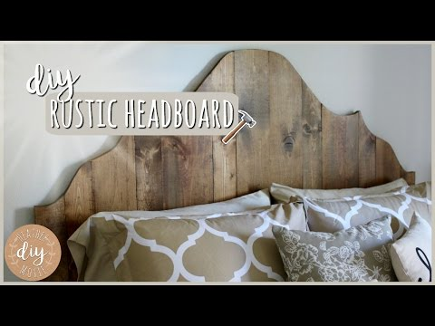DIY Bedroom Furniture⎪Rustic Headboard
