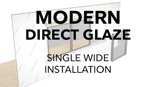 Marvin Modern Direct Glaze Window Installation - Single Wide