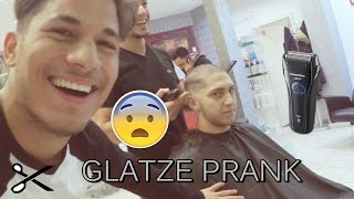 GLATZE PRANK + HAIRCUT TUTORIAL l Yavi TV