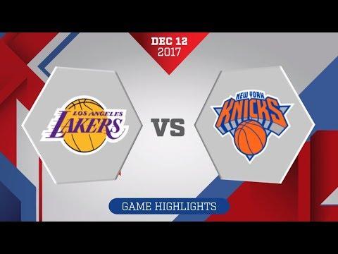 Los Angeles Lakers vs. New York Knicks - December 12, 2017