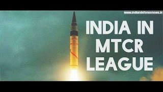 India joined, Missile Technology Control Regime MTCR. What is MTCR?
