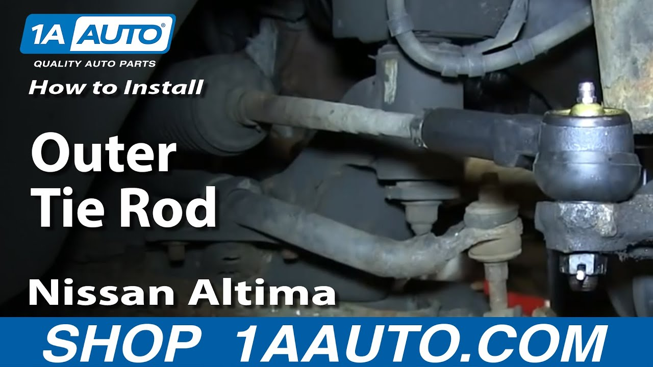 How To Replace Tie Rod 1996 2001 Nissan Altima Youtube