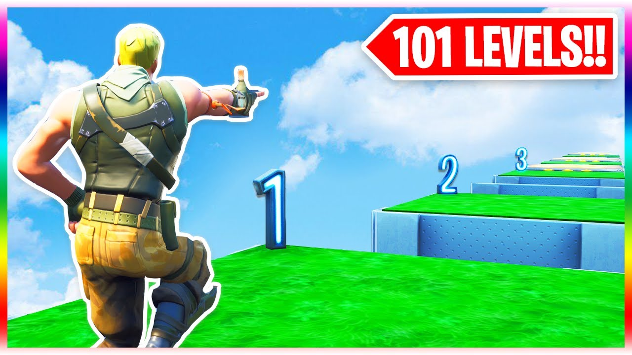 101 Level Bot Deathrun Fortnite Creative Mode Youtube