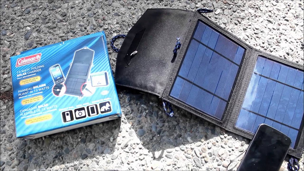 Coleman Sunforce 7 5 Watt Folding Solar Panel Phone And 12