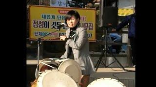 중년美女, 장구솜씨 춤사위 노래실력최곰니다!  트로트메들리 !