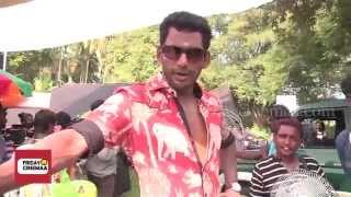 vishal s aambala on location shoot in pollachi