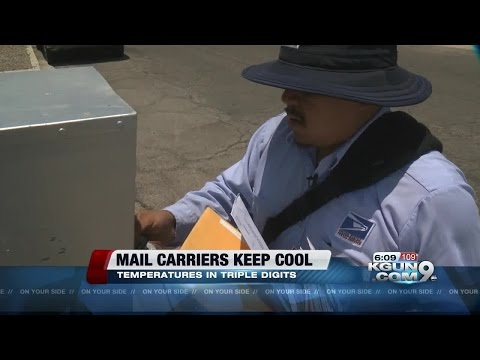 Rain or shine the Mailman beats the heat
