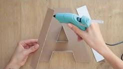 ★ 3D letter DIY | how to make a paper letter room decor DIY | origami