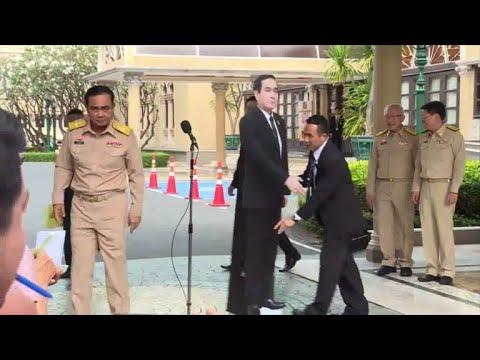 Thai PM tells media to speak to cardboard cutout of himself