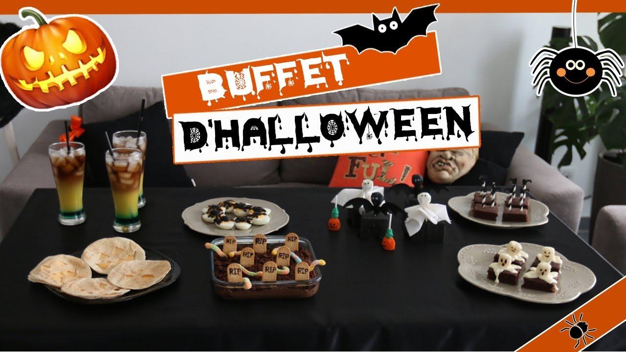 Buffet d\u0027Halloween DIY facile et pas cher