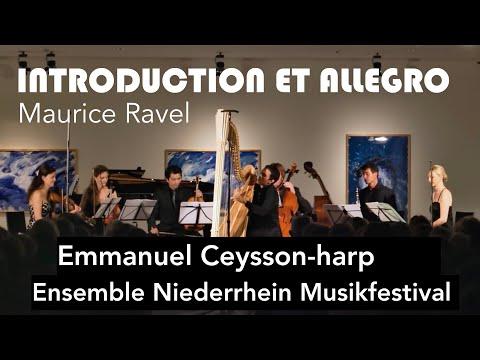 Ravel: Introduction et Allegro for Harp, Flute, Clarinet and String Quartet. Maiburg, Ceysson.