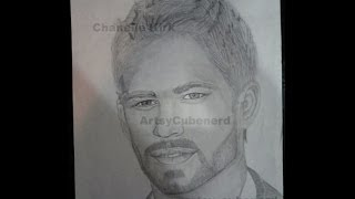 Paul Walker Drawing (Time Lapse)