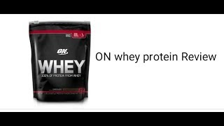 ON WHEY PROTEIN POWDER / 100% PROTEIN FROM WHEY  REVIEW IN HINDI
