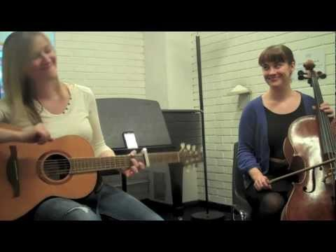 Jennifer Hughes and Katie Chatburn jammin' with the MyBeat metronome by KnowledgeRocks