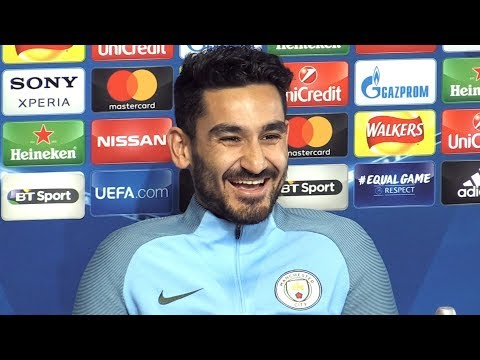 Ilkay Gundogan Full Pre-Match Press Conference - Manchester City v Basel - Champions League